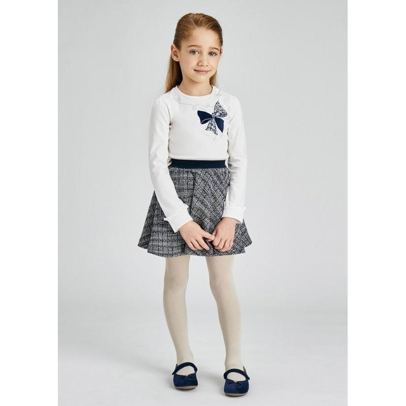 Ensemble jupe tricot fille