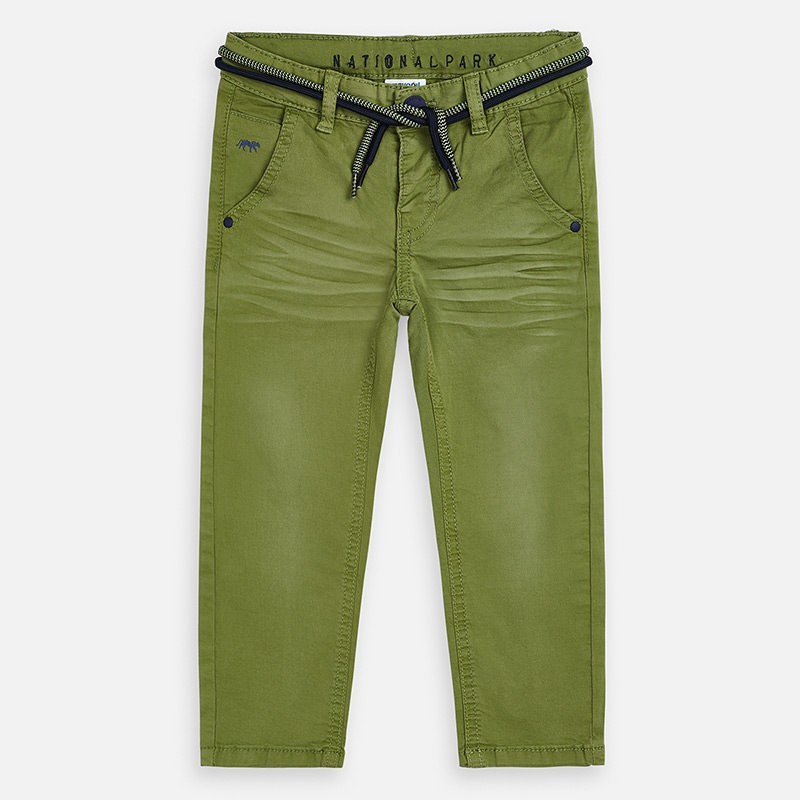 Pantalon chino long détails...