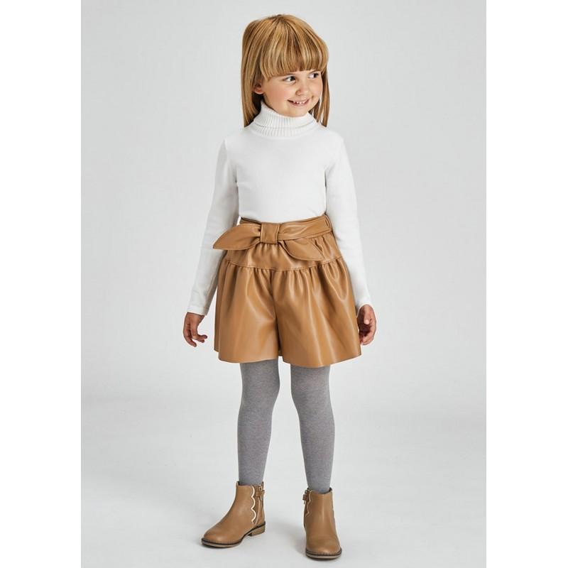 Jupe pantalon polycuir fille