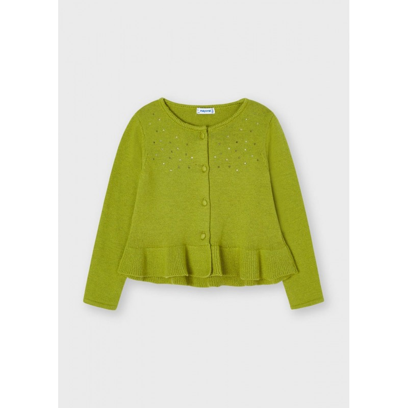 Cardigan tricot strass fille