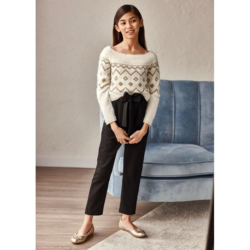 Pantalon long tricot fille