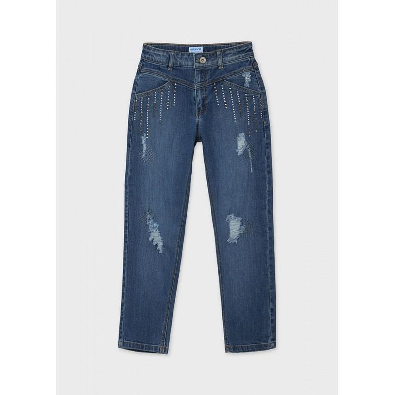 Pantalon long jean slouchy...