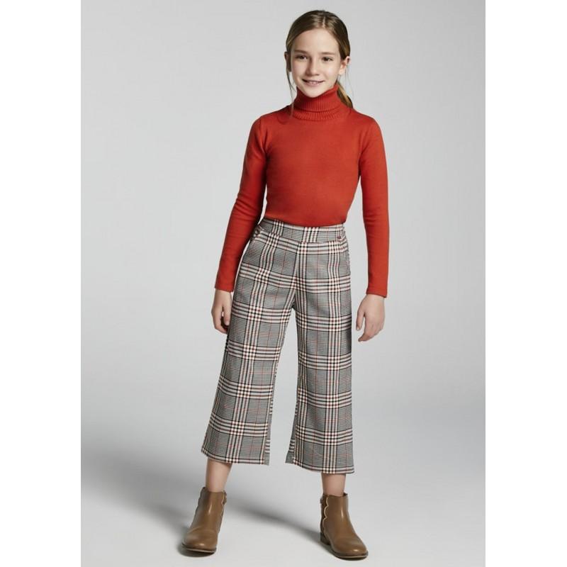 Pantalon long cropped à...