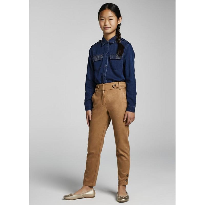 Pantalon long serge fille