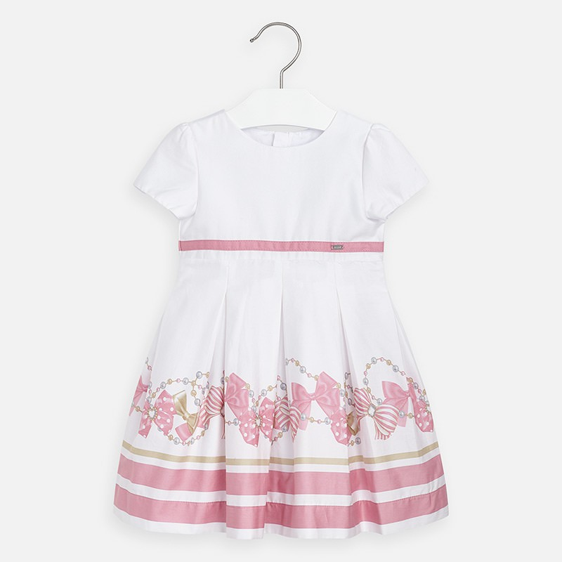 Robe nœuds rayures fille