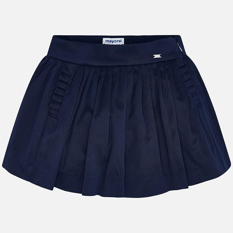 Jupe pantalon plis plats fille