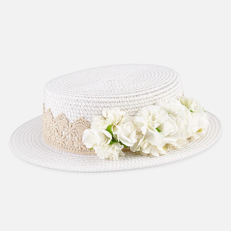Chapeau fleurs fille