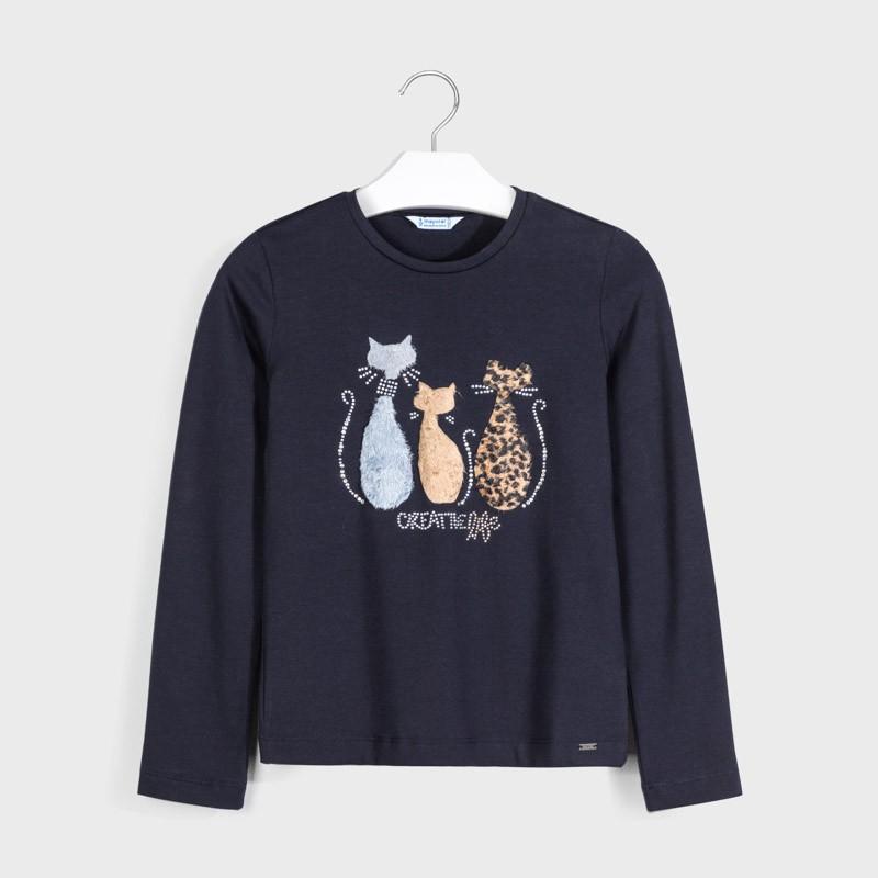 T-shirt manche longue chats...