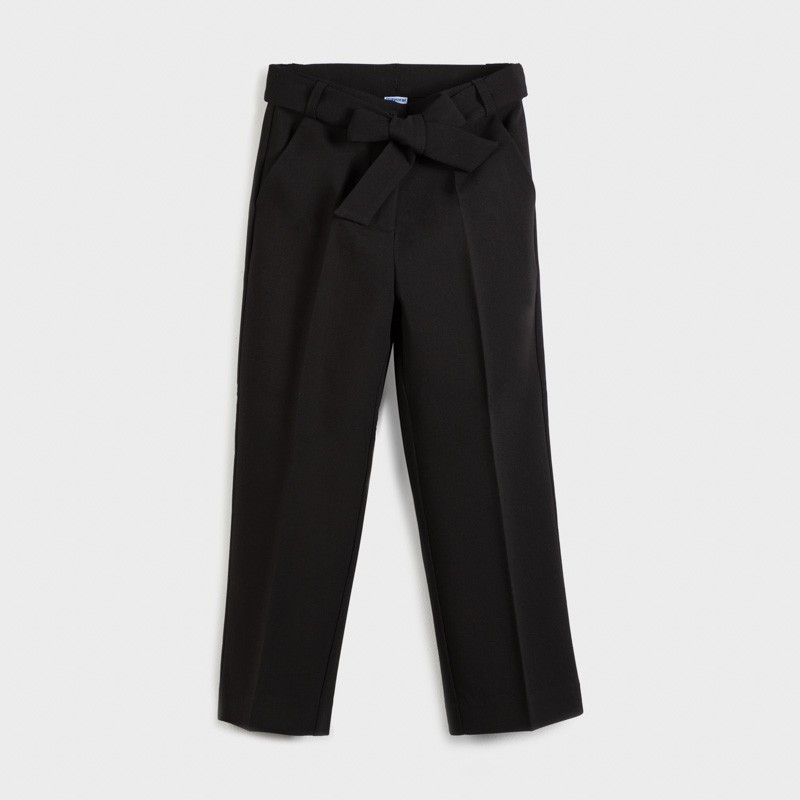 Pantalon long cropped fille