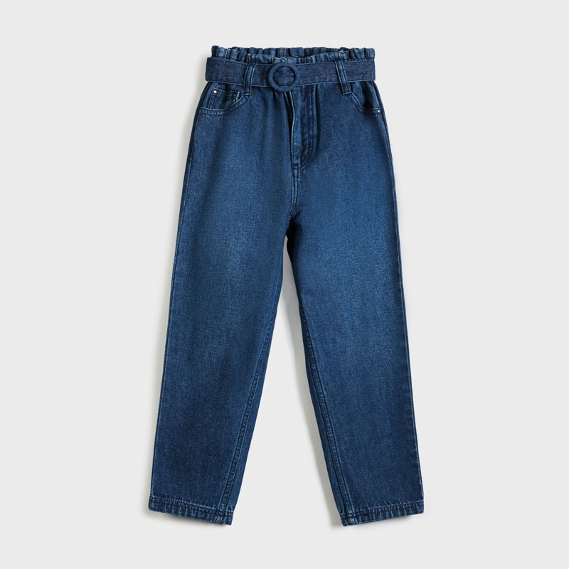 Pantalon long slouchy jean...