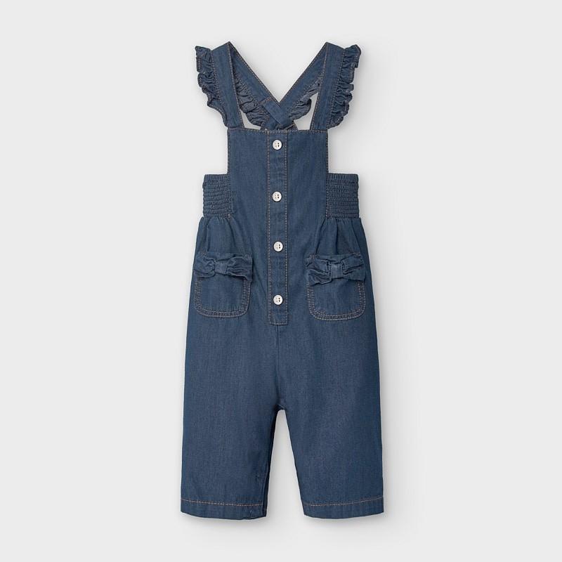 Salopette jean bébé fille