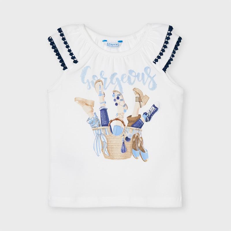 T-shirt à bretelles fille