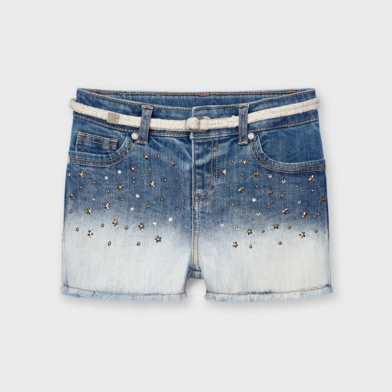 Pantalon court jean fille