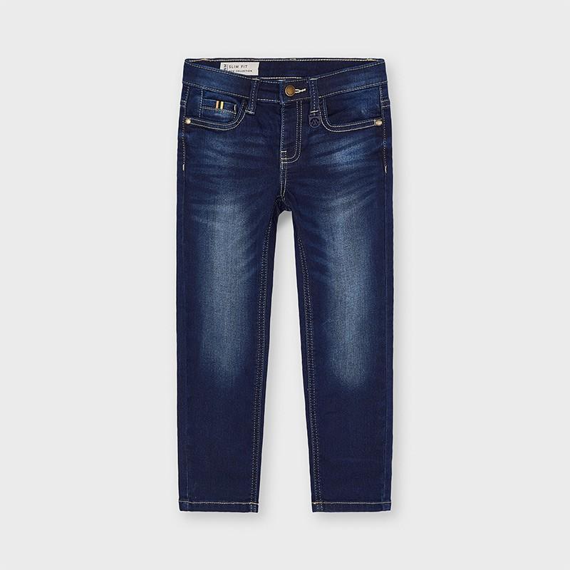 Pantalon long soft denim...