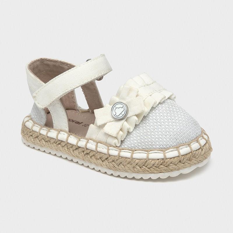 Sandales jute volant bébé...
